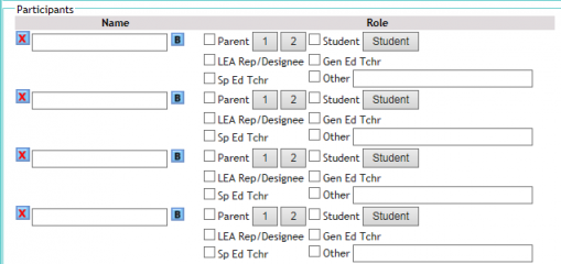 Screenshot of adding multiple meeting participants at once