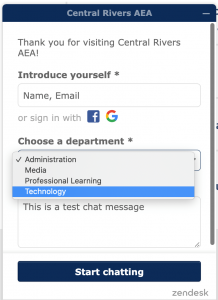 In the chat select technology to chat with us