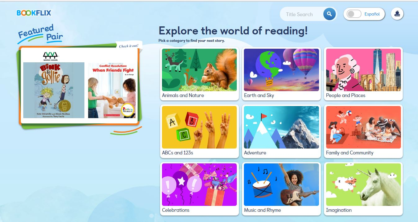 BookFLIX home page
