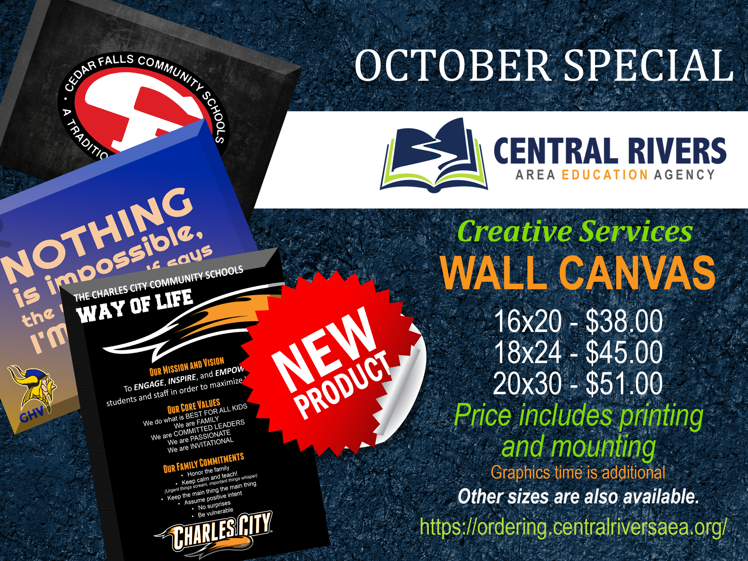 OCTOBER Monthly ad