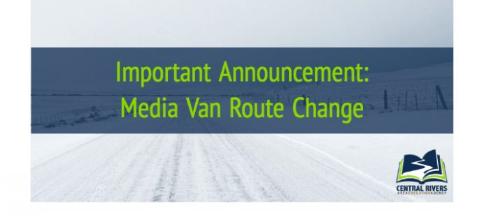 Van delivery cancelled the week of January 22-24