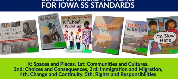 Media Services has created grade level book sets developed around the themes for Iowa SS Standards.