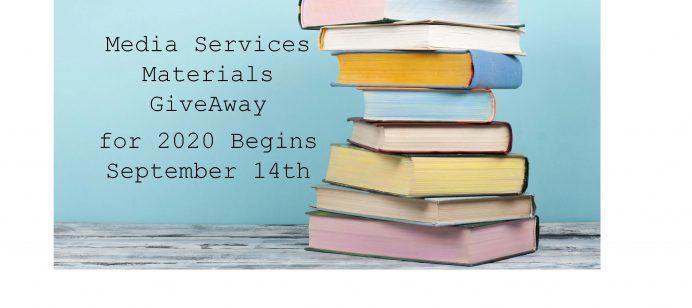 Media Services Materials GiveAway for 2020 Begins September 14th: Boxed Book Sets & Books With Audio