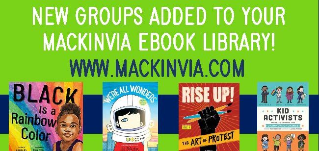 New social justice book groups have been added to your school's MackinVIA eBook library.