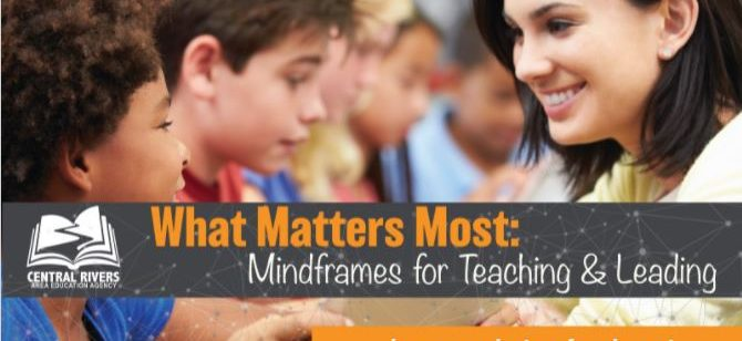 Part 1 recording available: Mind frames for Teaching and Leading