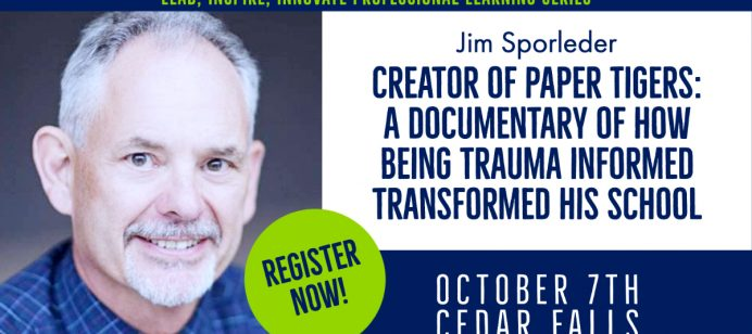 Jim Sporleder, creator of Paper Tigers: a documentary on how being trauma informed transformed his school